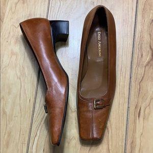 Enzo Angiolini Reba Tan Leather Heels Size 7M